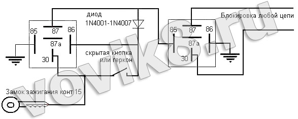 Схема секреток бензонасос