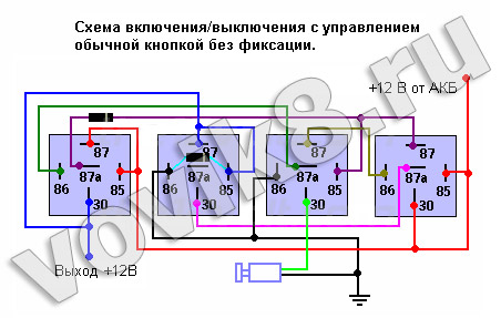 электрическая схема дверного звонока