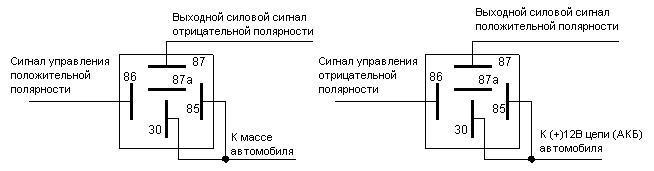 Реле 21.3777 схема подключения противотуманных фар